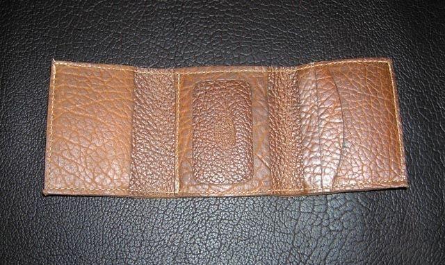 custom made buffalo leather trifold wallet by buckaroousa