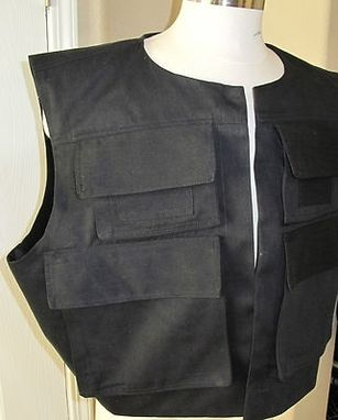 Custom Made Han Solo Rotj Version Black Vest In 7 Sizes