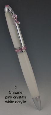Custom Made Breast Cancer Awareness Pen With Swarovski Crystals