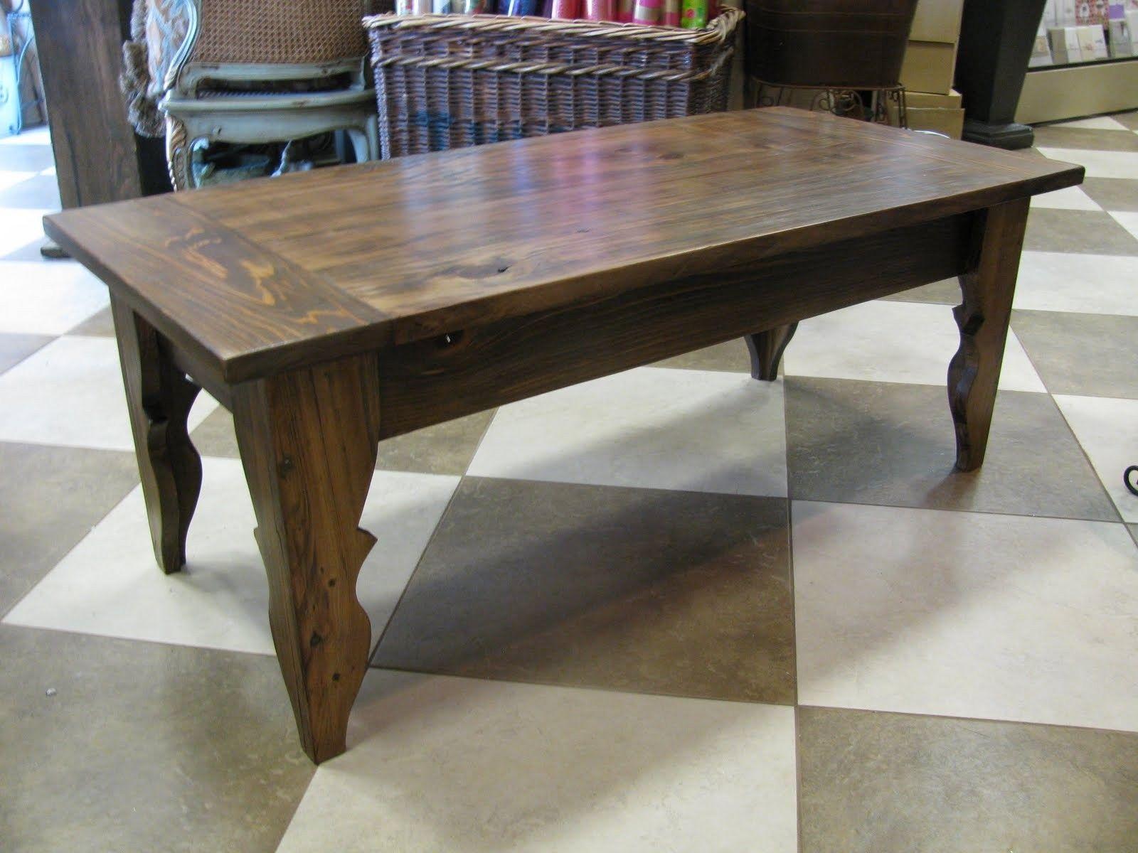 "custom made reclaimed wood ""carrollton"" coffee table (cypress)"