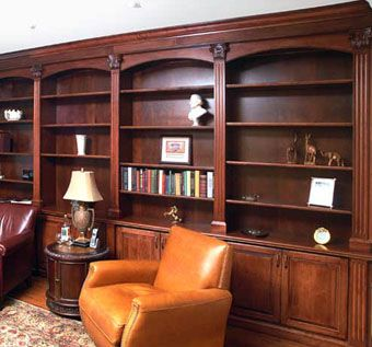 Custom Made Home Library In Maple