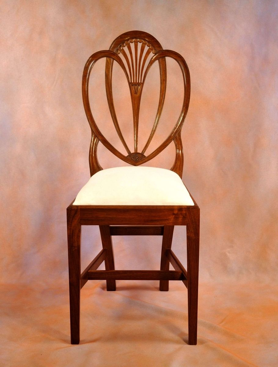 Hand Crafted Federal Heart Back Side Chair By Cl Phillips