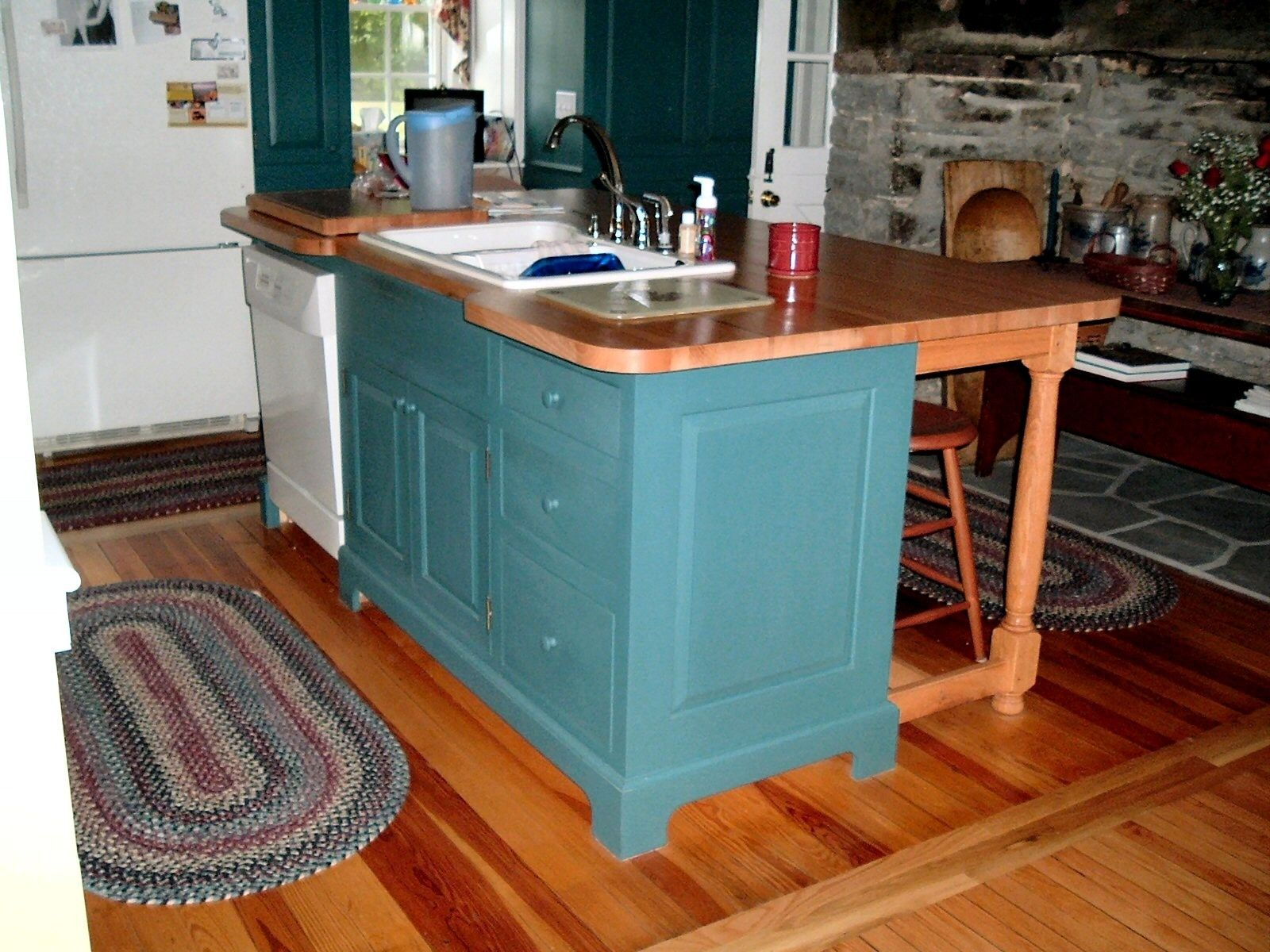 Hand made kitchen island by d c nauman chairmaker for Custom made kitchen islands