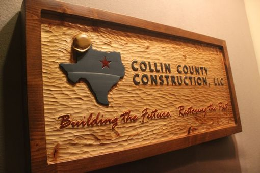 Custom Made Custom Carved Construction Signs By Lazy River Studio