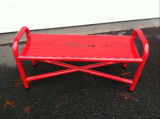 Custom Made Steel Powdercoated Bench