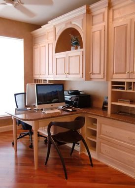 Custom Made Home Office In Natural Maple