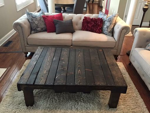 Custom Made Rustic Reclaimed Pallet Coffee Table