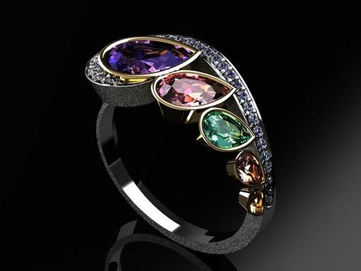 Custom Made Custom Color Stone Ring