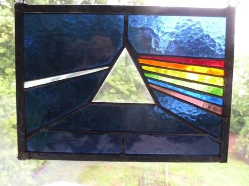 Custom Made Stained Glass Dark Side Of The Moon Pink Floyd
