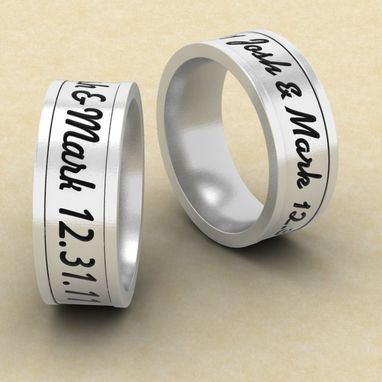Custom Made His And Hers Engraved Rings