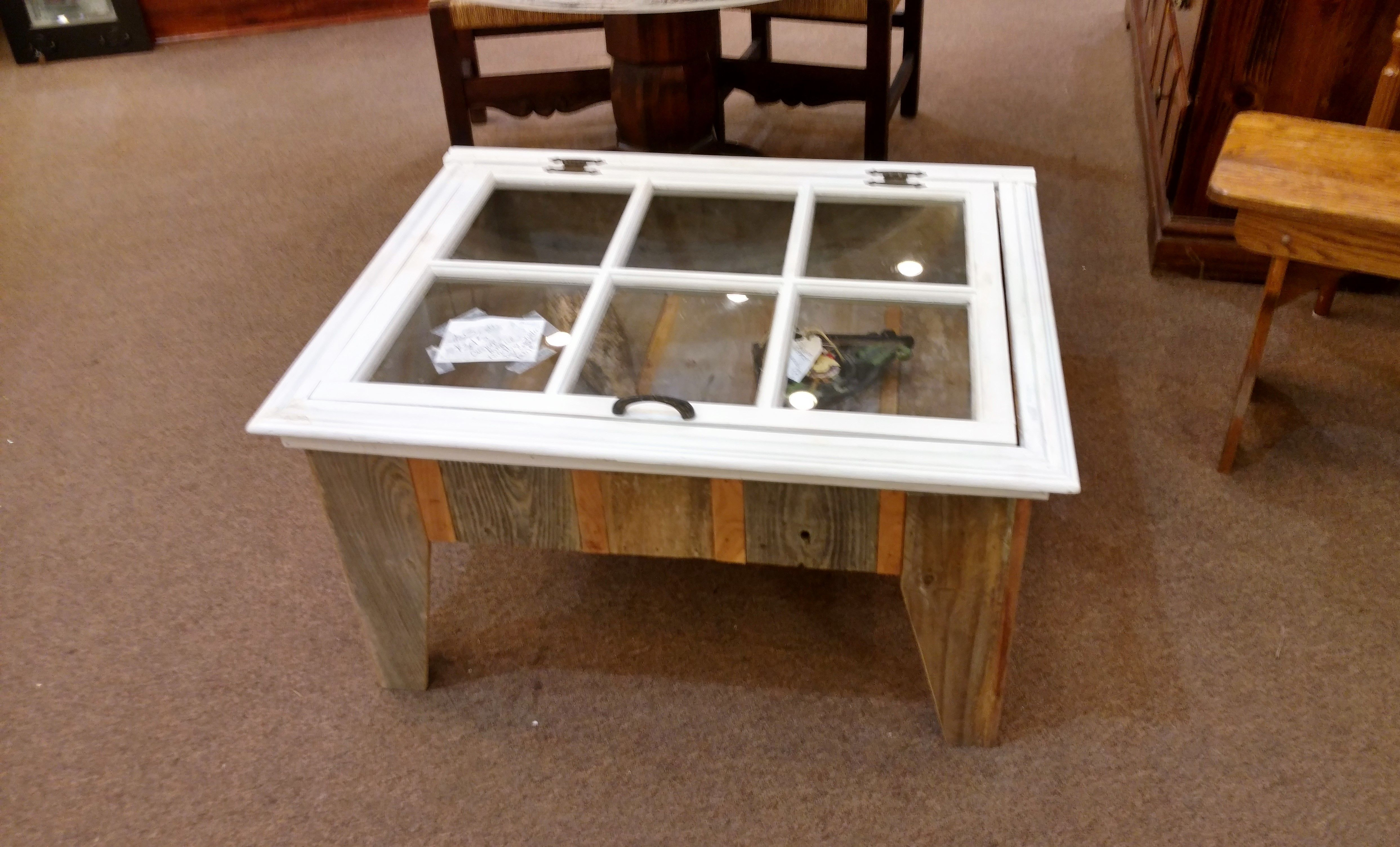 Custom Made Shadow Box Coffee Table Antique Window By More Than