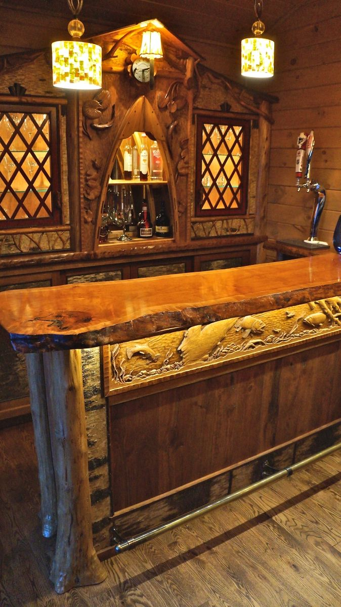 Custom Adirondack Rustic Home Bar by L. Post Rustics | CustomMade.com