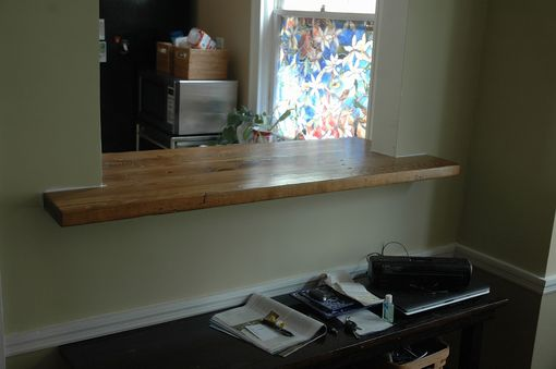 Custom Made Reclaimed Pine Countertop
