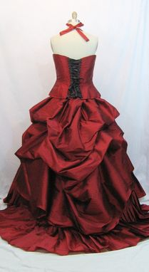 Custom Made Red Wedding Gown Alternative Corset Gown