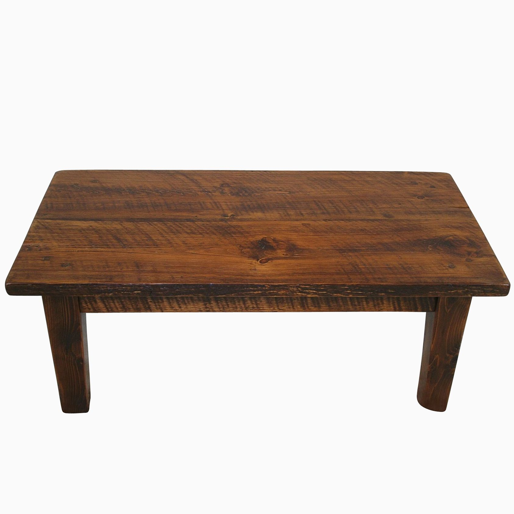 Buy a Custom Rough Sawn Pine Rustic Style Coffee Table made to