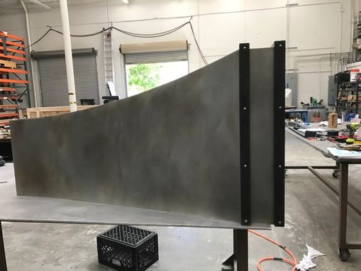 Custom Made #84 Hand Crafted Mottled Zinc Range Hood