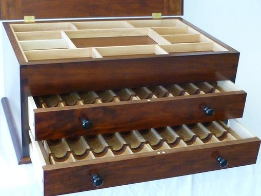 Handmade Traditional Poker Chip Storage Chest By