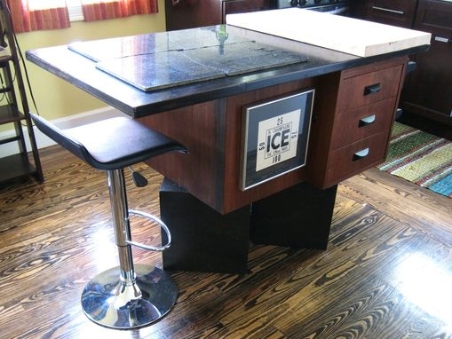 custom made kitchen island by recollection design
