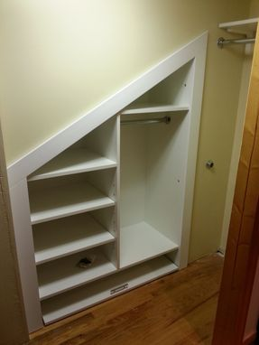 Custom Made Odd Shape Custom Closet Cabinet