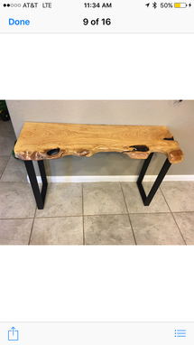 Custom Made Console Table,Live Edge,Wood Table,Entryway,Hallway,Sofa Table, Furniture