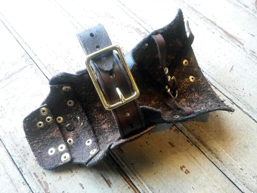Custom Made Brown And Brass Steampunk Leather Vanbrace