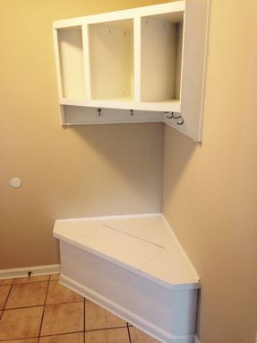 Custom Made Corner Built-In And Storage Bench