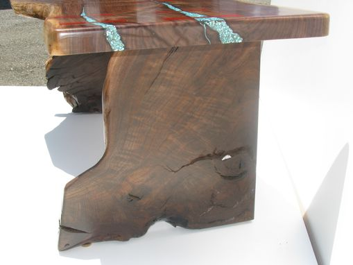 Custom Made Feathered Walnut Coffee Table