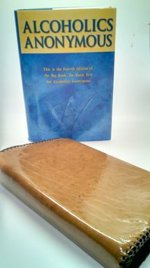 Custom Made Designer Leather Alcoholics Anonymous Book Cover