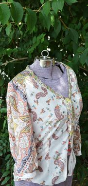 Custom Made Paisley Office Blouse