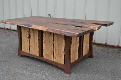Custom Made Live Edge Walnut Executive Desk