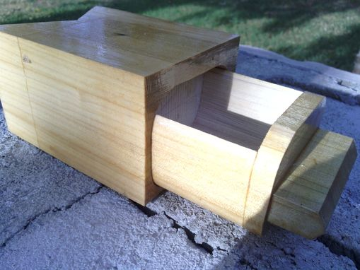 Custom Made V-Shaped Repurposed Bandsaw Box