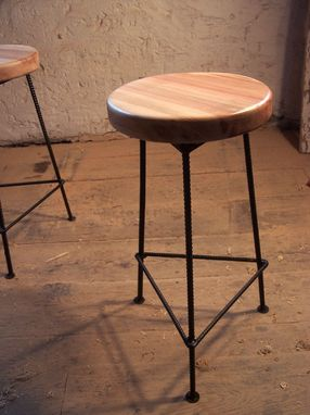 Custom Made Bar Stool Made From Maple And Metal