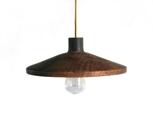 Custom Made Claro Walnut Hand Turned Pendant Lamp With Amazing Figure