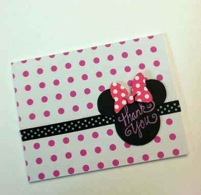 Custom Made Minnie Inspired Thank You Cards