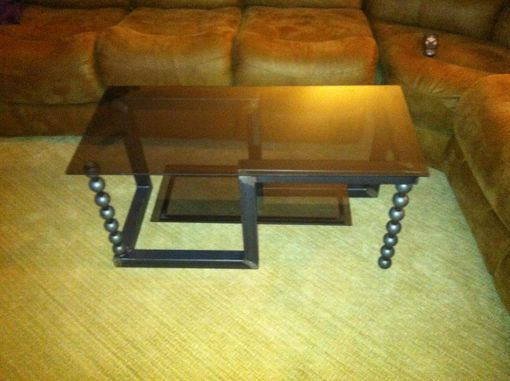 Custom Made Metal Coffee Table Industrial Modern