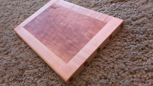 Custom Made Maple And Cherry Cutting Board - Personalized Engraving / Monogram