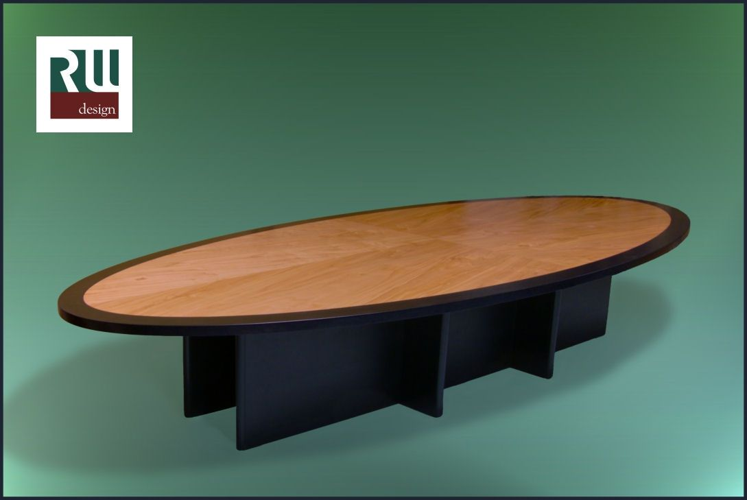 Hand Made Elliptical Conference Table By Randy Weersing Furniture - Elliptical conference table