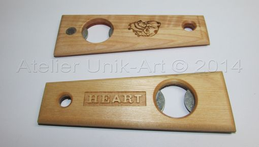 Custom Made Custom Laser Engraving On Wooden Bottle Openers