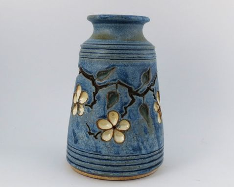 Custom Made Vase With Carved Cherry Blossoms