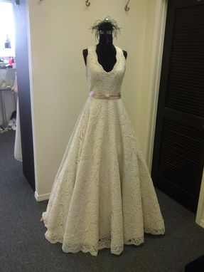 Custom Made All Lace Halter Wedding Gown