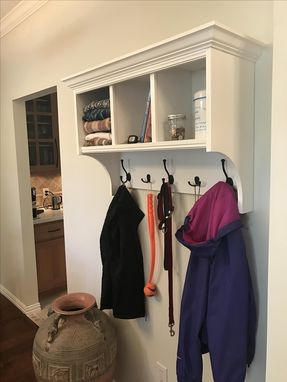 Custom Made Entrance /Mud Room Storage Shelve