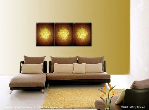 Custom Made Original Abstract Gold Metallic Textured Painting By Lafferty - 24 X 54 - One Day Sale