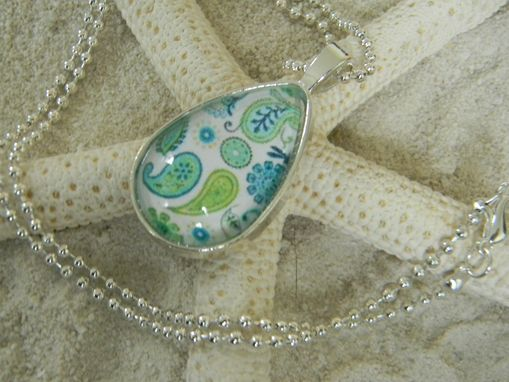 Custom Made Customized Oval Silver Plated Glass Bezel Pendant/Necklace