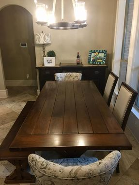 Custom Made Contemporary Farmhouse Dining Table