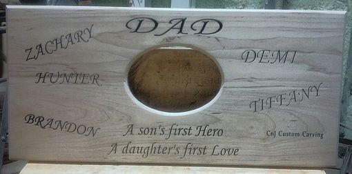 Custom Made Dad Plaque 5x7 Picture