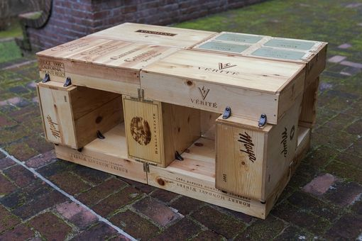 Custom Made Wine Box Coffee Table
