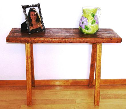 Custom Made Reclaimed Wood Rustic End Table, Entry Table, Hall Table By Rustic Furniture Hut