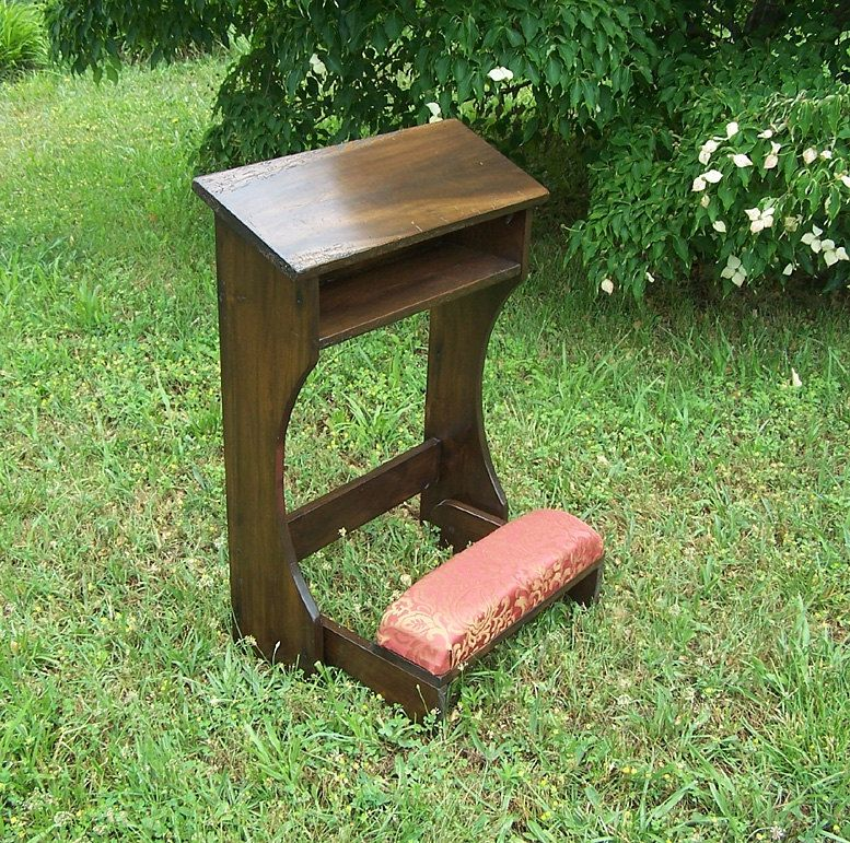 Buy A Custom Made Reclaimed Wood Folding Prayer Kneeler Or Prie Dieu Made To Order From The