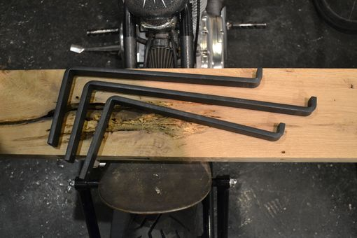 Custom Made Black Iron Steel Shelf Brackets