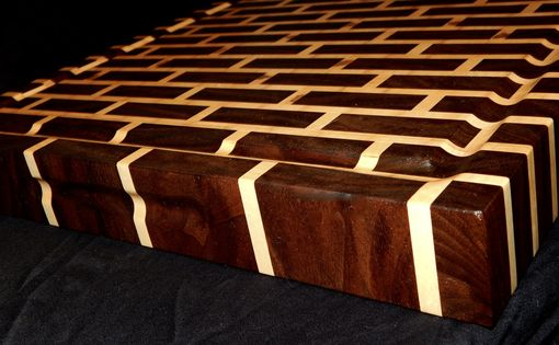 Custom Made Black Walnut & Maple Brick Style Cutting Board